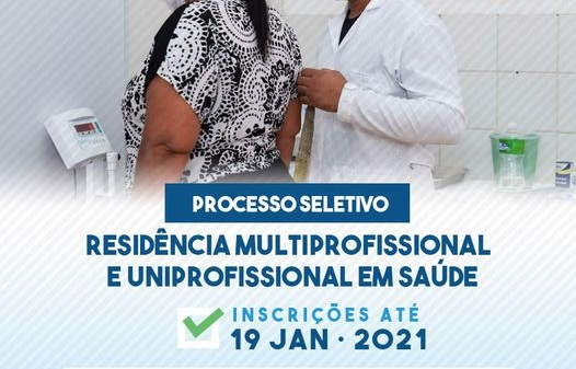 Inscrições abertas para o programa de Residência em Saúde na Capital