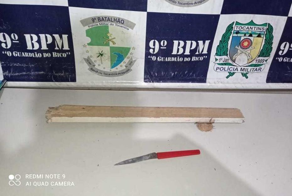 Dupla é presa após cometer homicídio utilizando faca de serra e pedaço de madeira em Augustinópolis