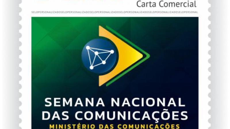 Selo postal marca o início da Semana das Comunicações