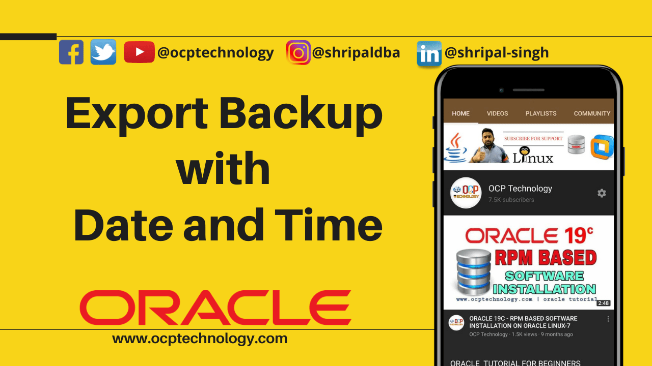 Export Backup with Date and Time