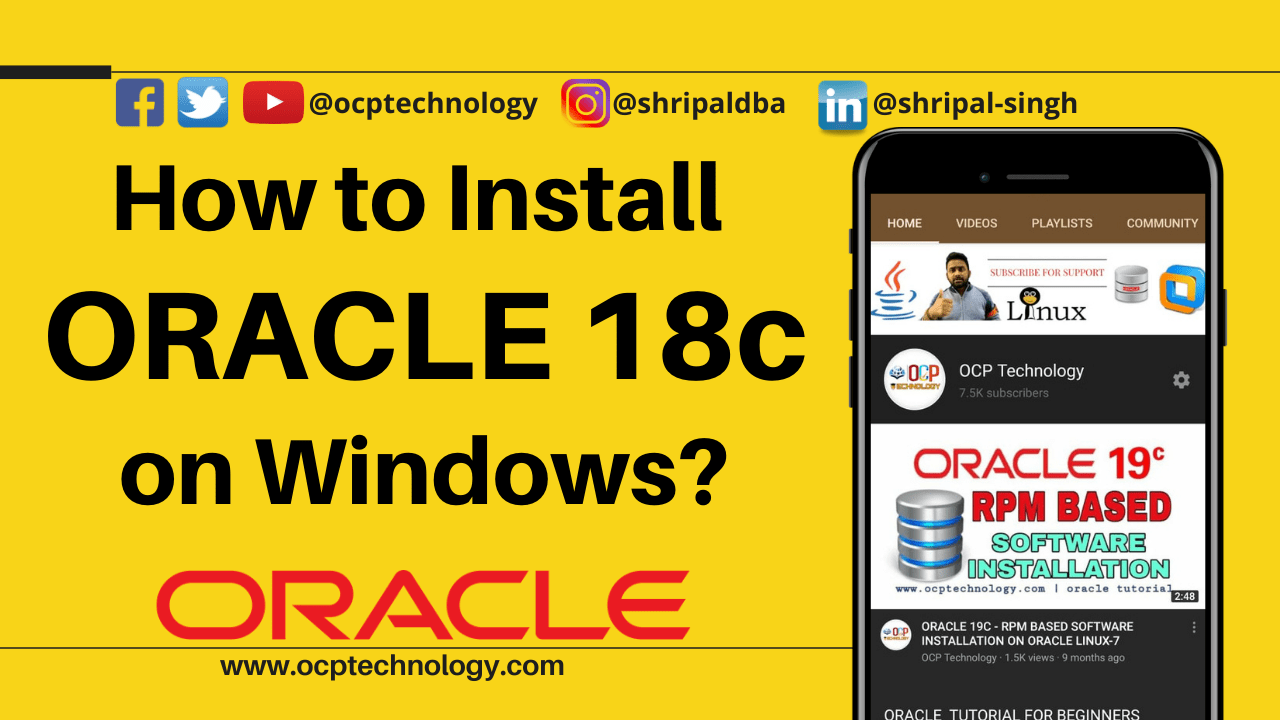 How to Install Oracle 18c on Windows