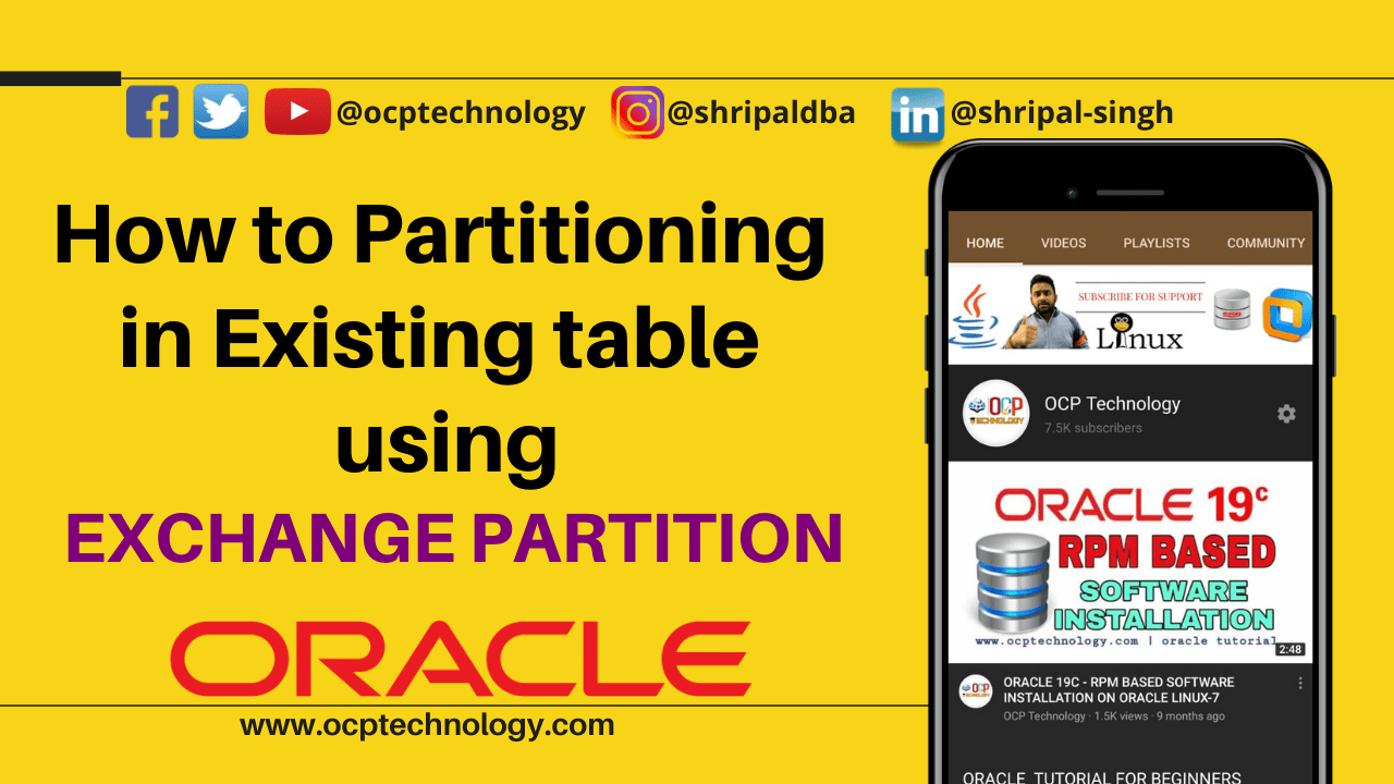 How to Partitioning in existing table using EXCHANGE PARTITION
