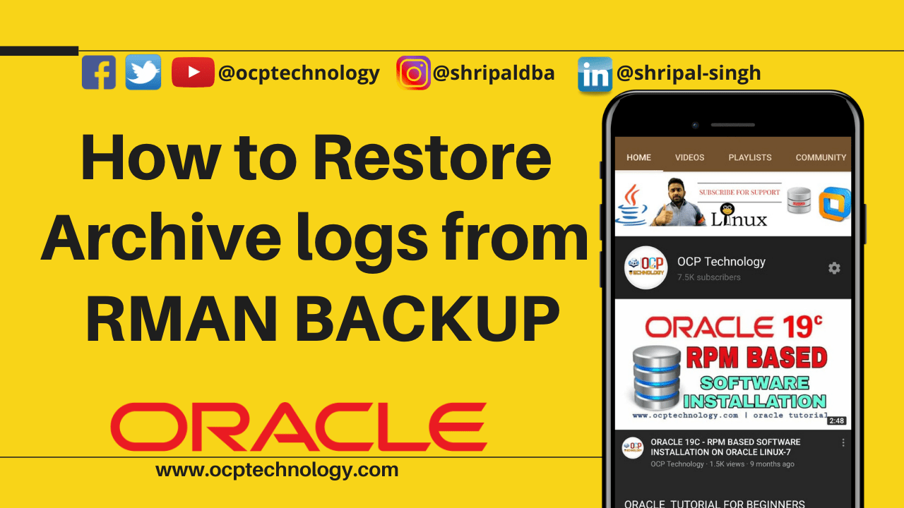 How to restore archive logs from rman backup
