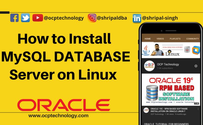 How to install Mysql Database Server on Redhat Linux