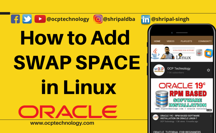 How to add SWAP Space in Linux