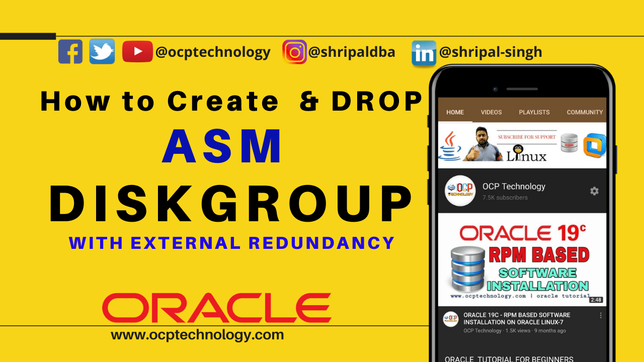 create diskgroup asm