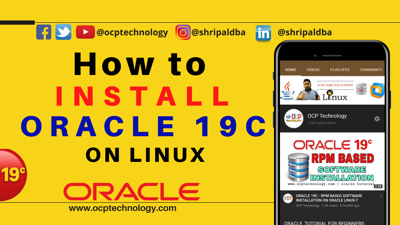 ORACLE 19C INSTALLATION ON LINUX