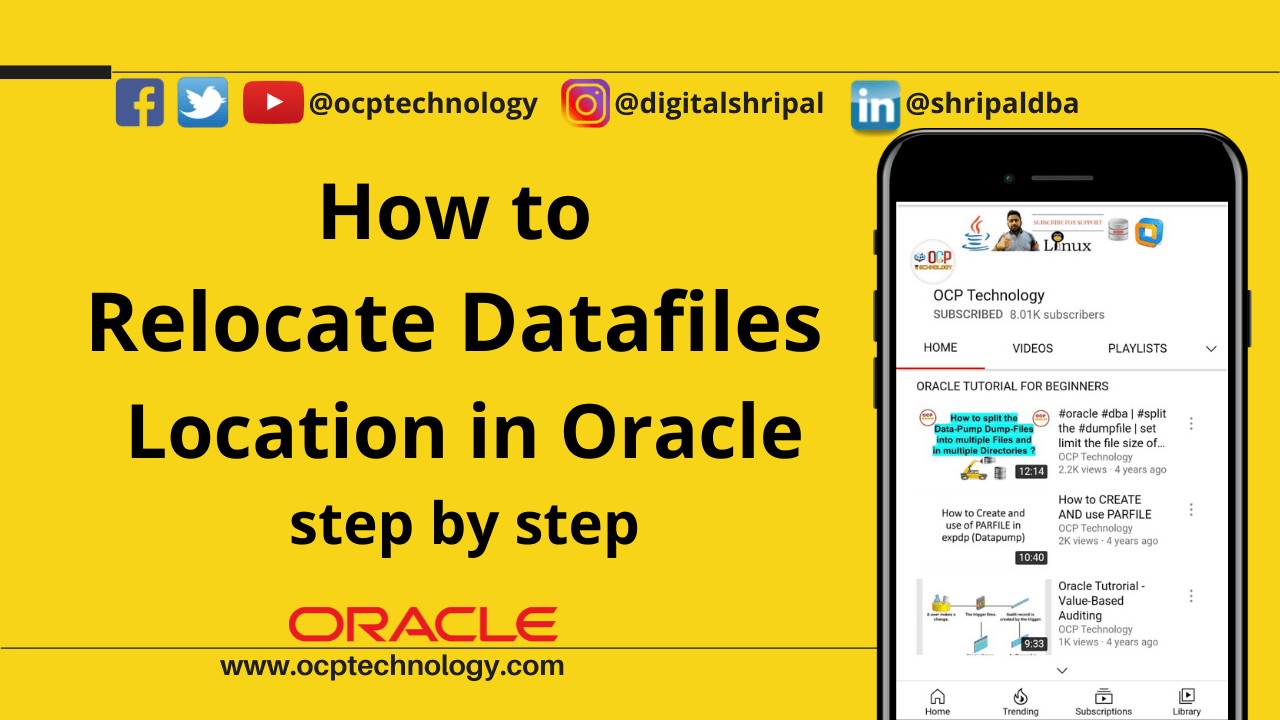 Relocate Datafiles in Oracle