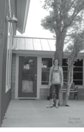 Angie Todd in front of Angie's Gym Health and wellness photo June 2013