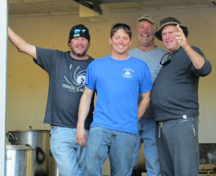 The guys who cook the oysters, from left, Bob Jenkins, Erick O'Neal, Donald Austin and Dan Garrish.
