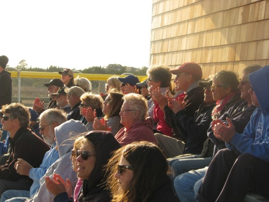 The bleachers filled to cheer on the Dolphins. Photo  by P. Vankevich