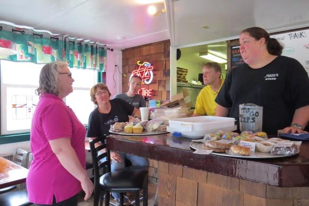 At the spaghetti fundraiser April 19 at Jason's Restaurant for Brian Fulcher are, from left, Martha Garrish, Melissa Sharber (Brian's mom), Noel Goodwin, Sherry Atkinson and Karmen Laton.