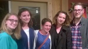 NC Stat grad sstudents, left to right: Karissa Wojcik, Jessica Hatcher, Regan Hale, Brooke Wallig, Eric Wilbanks. Photo by P. Vankevich