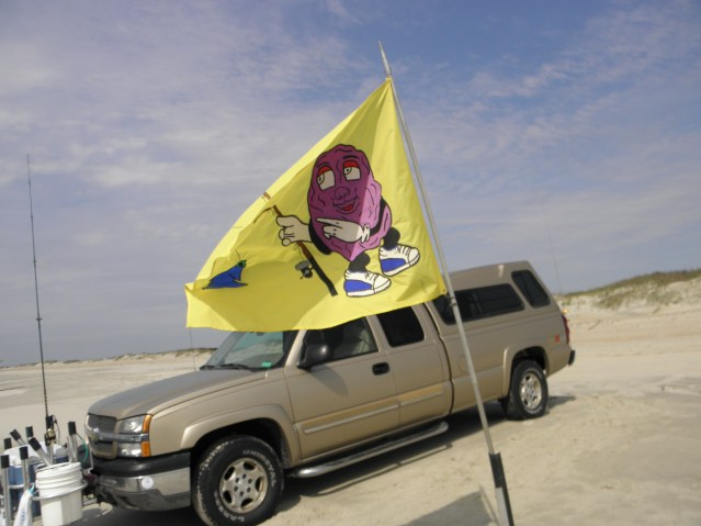 The Raisin' Rods are among the teams that have logos and flags. Photo by C. Leinbach