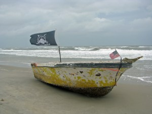 Beached boat near Southpoint. Photo by P. Vankevich.