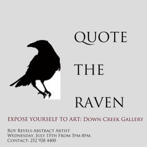 Roy Revels art will be on view starting tonight in Down Creek Gallery.