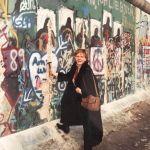 Gisela at Berlin Wall