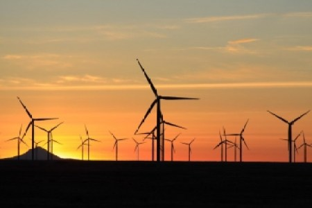 Shepherds Flat Wind Farm, offshoe Oregon generates up to 845 Megawatts of clean wind energy.