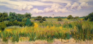 """""""Summer Light,"""" a pastel by islander Mary Bassell, will be among the new works on view Sept. 23 in Down Creek Gallery."""