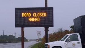 Leaving Ocracoke village sign information at 9 a.m., Saturday, Sept. 26