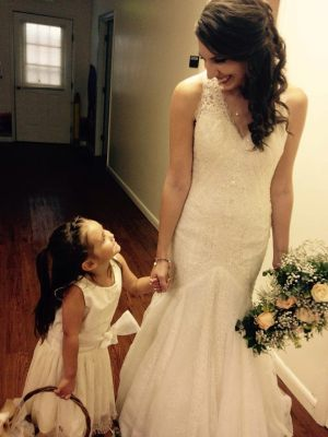 Courtney and Flower girl, Ava Loya. Photo by Jameson Colin