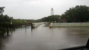 Flooding on Ocracoke. Photo by P. Vankevich
