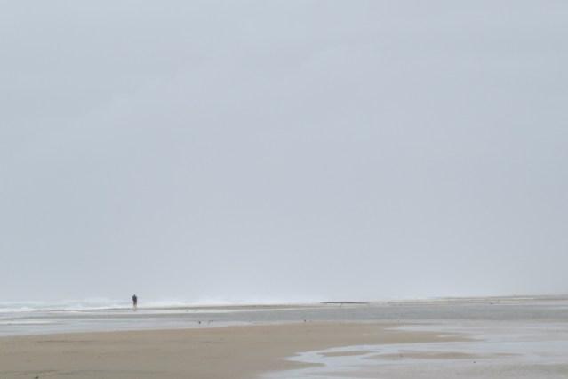 Heavy seas on Ocracoke Beach.