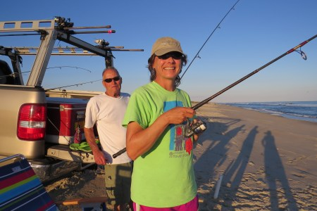 Skip and Judy Simon of Bernville, Pa., visit Ocracoke every year for two weeks in October when the fishing is good.