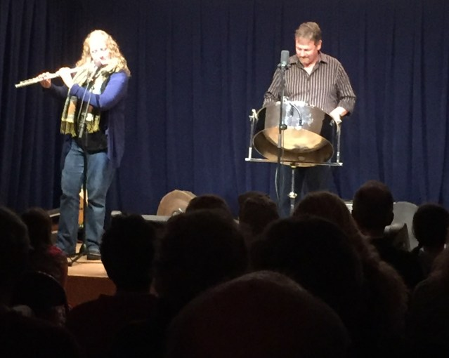 Barbara Smith and Scott Paulson perform during Ocracoke Alive's Thanksgiving fundraising concert Nov. 28