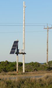 Solar panel along Highway 12. Photo by C. Leinbach