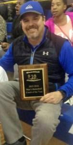 Coach of the Year, Davel Allewalt. Photo by Elizabeth Chandler