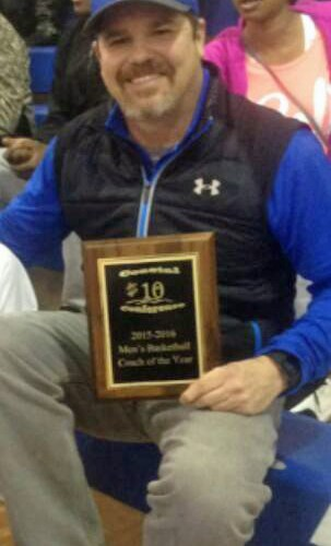 Coach of the Year, Davel Allewalt. Photo by Elizabeth Chandler