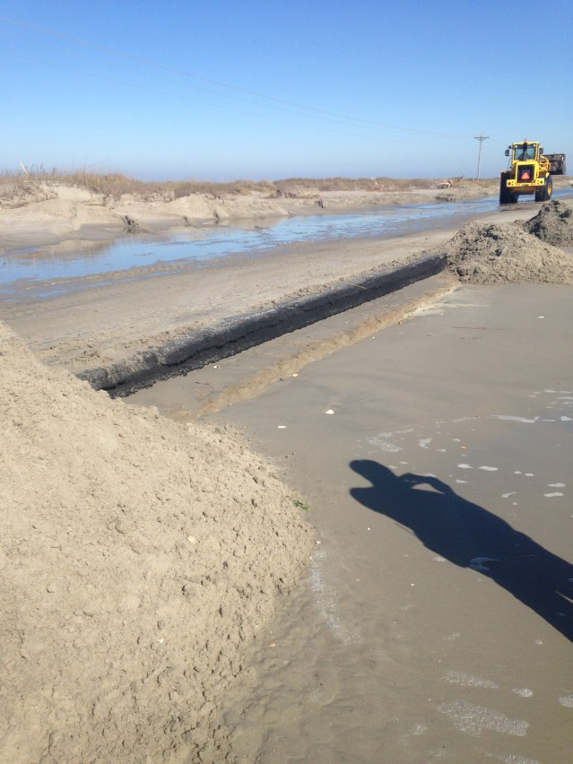 Damage to Highway 12 from the Feb. 8 storm. Photo by William Boyd