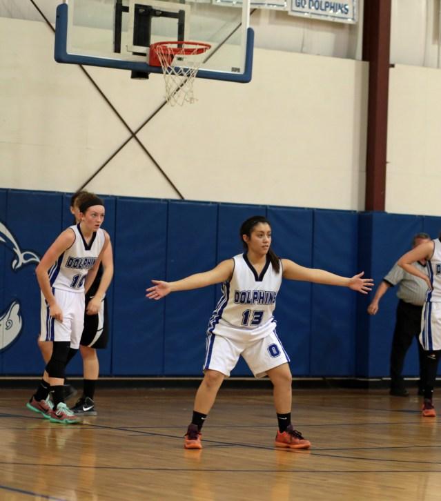 Bricea Moreno, 10, Sydney Austin in background. Photo by Carol Woolgar