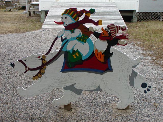 Clifton Garrishs Christmas yard ornaments. Photo by Janie Garrish