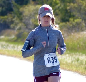 Marissa Gross of Ocracoke is the top woman runner and placed sixth overall. Photo by Ruth Fordon