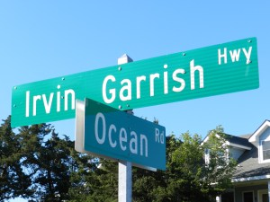 Irvin Garrish Highway is what N.C. Route 12 is called in Ocracoke village.