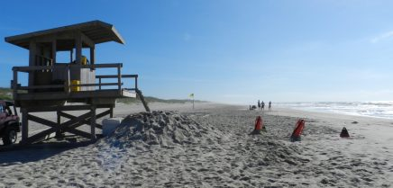 The vast Lifeguard Beach on Ocracoke.