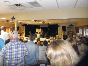 The live auction at the annual Firemen's Ball features all kinds of goodies on which to bid--all to benefit the OVFD.