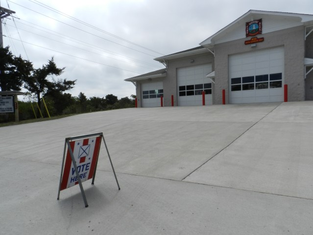 Voting for Tuesday's general election is at the Ocracoke Volunteer Fire Department.