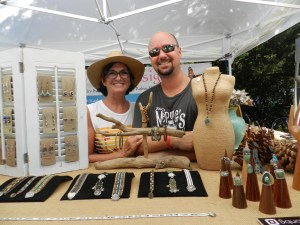 Robin and Chad Macek of Wilmington, were first-time artisans at the festival. Photo: C. Leinbach