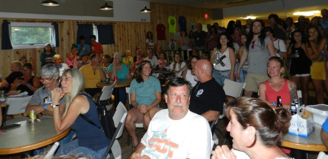 The crowd in the Ocracoke Community Center.