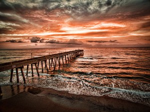 Photography such as Pier by Chris VanAtta will be the featured work at an artist's reception from 5 to 8 p.m. June 29 in Down Creek Gallery.