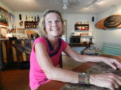 Kathleen Triolo talks inside her Island Vibe shop. Photo: C. Leinbach