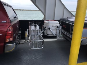 "Ocracoke visitor snapped this ""battle of the coolers"" shot while riding the Hatteras Ferry earlier in the season. Photo: George E. Kean"