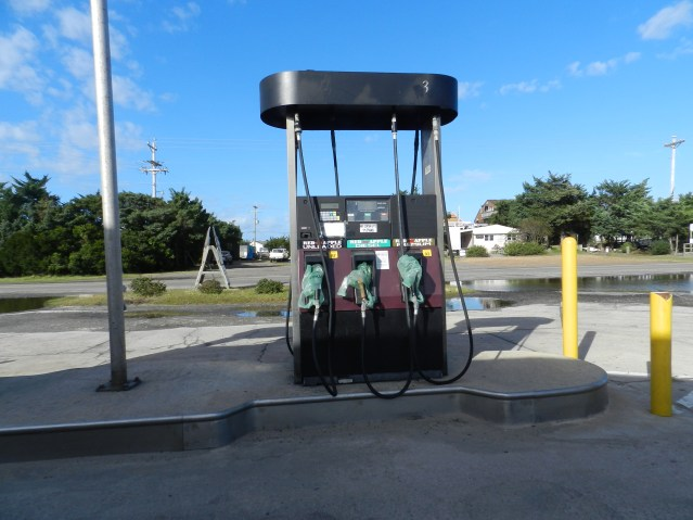 The gas pumps are off at Ocracoke Beachcomber Gas Station. Photo: C. Leinbach