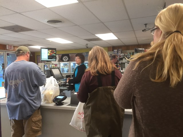 The Ocracoke Variety Store is the place to be Monday to get provisions, coffee and charge cell phones. Photo: C. Leinbach