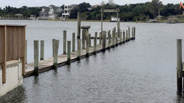 Silver Lake Harbor is already at extremely high water levels not related to Hurricane Matthew. Photo by P. Vankevich