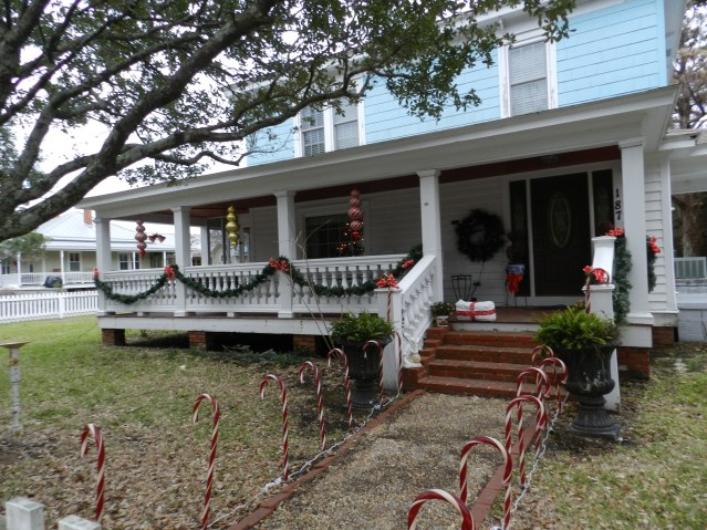 A rental home along Lighthouse Road has a day and a nighttime look.