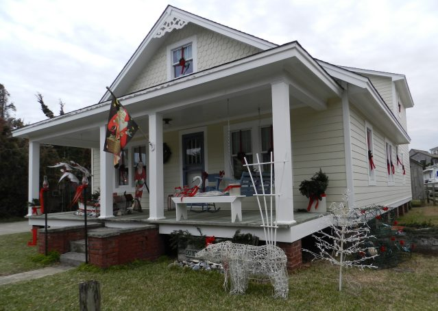 The display at the home of David ONeal on Lighthouse Road can be viewed during the daylight.